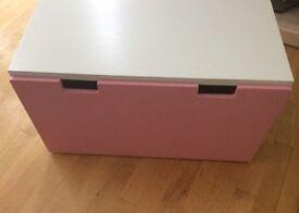 Ikea Stuva Storage Bench pink/white