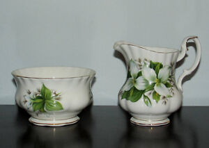 Vintage Royal Albert Creamer and Sugar Bowl