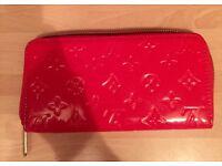 Louis Vuitton red patent monogram purse