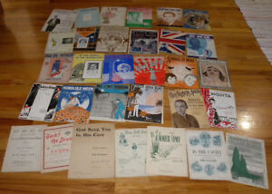 Antique LOT of 31 PIECES of SHEET MUSIC Good Condition