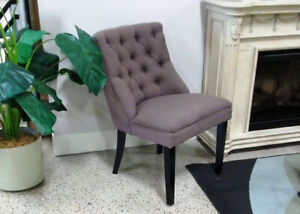 Tufted Brown Accent Chair