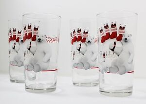 Coca Cola Polar Bear Father and Son Glass