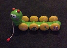Kids caterpillar pull toy