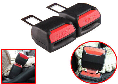 2pcs Car Safety Seat Belt Buckle Extension Extender Clip Alarm Stopper Universal
