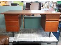 SALE NOW ON!! Desk With Drawers & Space For Suspension Files - Can Deliver For £19