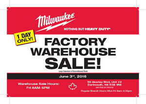 MILWAUKEE TOOLS FACTORY SALE- 50 AKERLEY BLVD -FRI JUNE 3