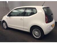 2016 WHITE VW UP! 1.0 75 HIGH UP PETROL MANUAL 3DR HATCH CAR FINANCE FR £25 PW