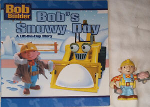 Bob the Builder Poseable Toy Figure & Snow Book