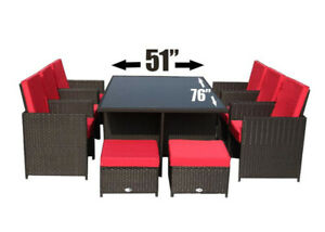 Brand New 11 pcs large patio furniture dining set