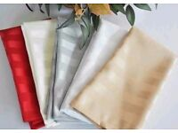 100 x BRAND NEW WHITE linen napkins,Polyester Napkins,commercial catering,Wedding,table swap 4 why?