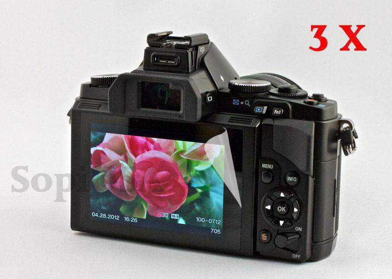 3 x Ultra Clear Screen Protector for Olympus OM-D E-M5 EM5 EM5II