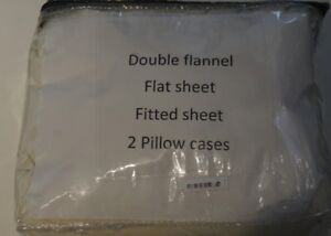 Brand new double flannel sheet set
