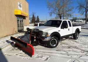 2002 FORD F250 4X4 W/ 2015 BOSS PLOW