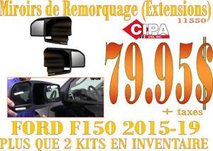 CIPA Ens. Extension Miroir pour remorquage F150 15-19 (11550)