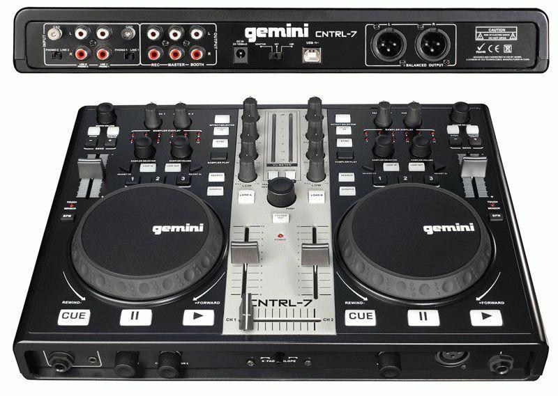 Gemini Cntrl 7 USB MIDI DJ Mixer Controller w Sound Card CNTRL7