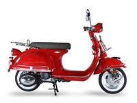 AJS MODENA 125CC SCOOTER, 50'S CLASSIC STYLE, 1 YEAR WARRANTY, FINANCE AVAILABLE