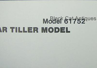 1978 Mtd Furrow Opener - Rear Tillertine Shield Parts List Models 61752 61753