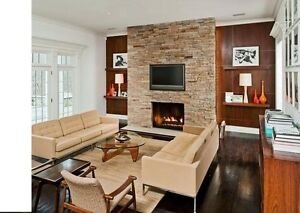FIREPLACE MAKEOVER   by stone veneer      $ 499..
