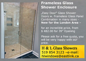 Frameless Glass Shower Enclosure - Large Selection from $ 482.00 London Ontario image 1