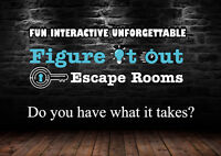 FIGURE IT OUT ESCAPE ROOMS, NEW TO CALGARY!