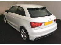 2012 WHITE AUDI A1 1.4 TFSI S LINE PETROL MANUAL 3DR CAR FINANCE FROM 37 P/WK