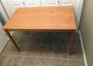Real wood kitchen table or desk