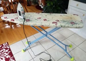 Ironing Board, Cover, Iron & Table Top Ironing Board