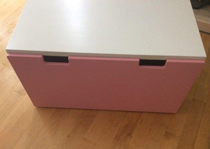 ikea stuva storage bench pinkwhite