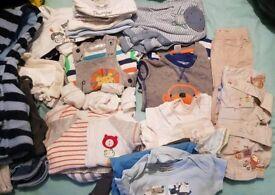 Huge bundle of clothes boys 0-3 months