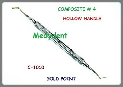 Dental Composite Instruments 4  Hollow Handle Gold Point C-1010