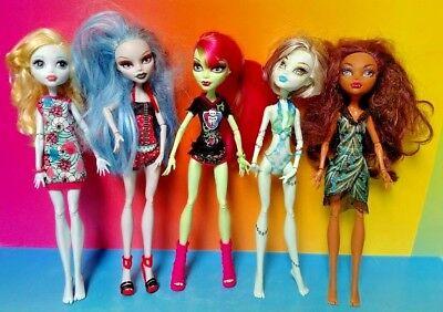 MONSTER HIGH 5 DOLL Lot Bundle MH Rare Mattel Clothes Accessories Halloween # 50 - Halloween Monster High Doll
