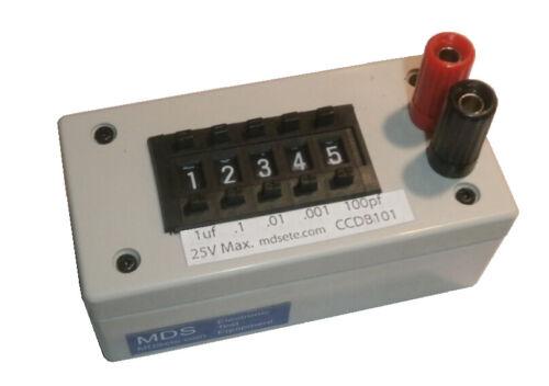 Capacitance Decade Box - 100pf - 9.9999uf - 25V