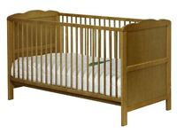 Mamas and Papas Wooden Cot (and Toddler) bed - adjustable