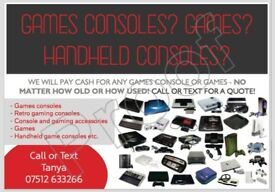 WANTED RETRO GAMES CONSOLES (NINTENDO SEGA GAMEBOY ATARI etc)
