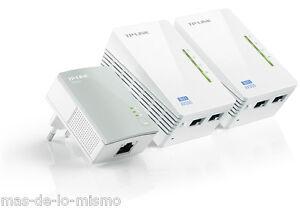KIT-PLC-AV500-TP-Link-TL-WPA4220TKIT-500Mbps-WiFi-N-300Mbps-Powerline-HomePlug
