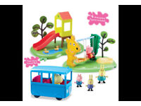 Peppa Pig & Friends Day at the Park With 4 Figures and Accesories NEW