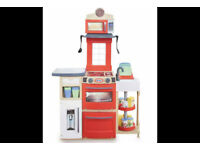 Little Tikes Red Cook 'n Store Kitchen Set 32 Accessories Easily Fold Up Playset