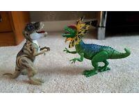 Roaring light up dinosaurs