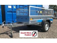 BRAND NEW SINGLE AXLE TRAILER 6x4 WITH MESH SIDES