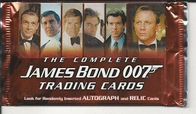 the complete James bond , trading cards pack