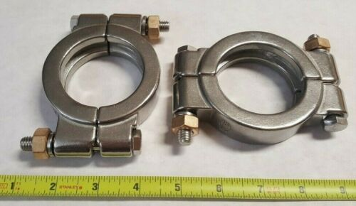 "(2) Quantity of  DIXON 13MHP200   2"" BOLTED 304 STAINLESS STEEL SANITARY CLAMPS"