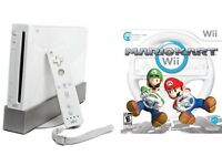 NINTENDO WII CONSOLE COMPLETE WITH MARIO KART GAME