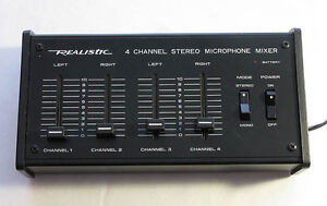 Realistic 4 channel sterio microphone mixer 32-1105