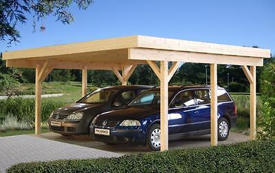 Carport Karl 3 / Richard 1 Doppelcarport 600x512cm 12x12cm Trägerpfosten Garage