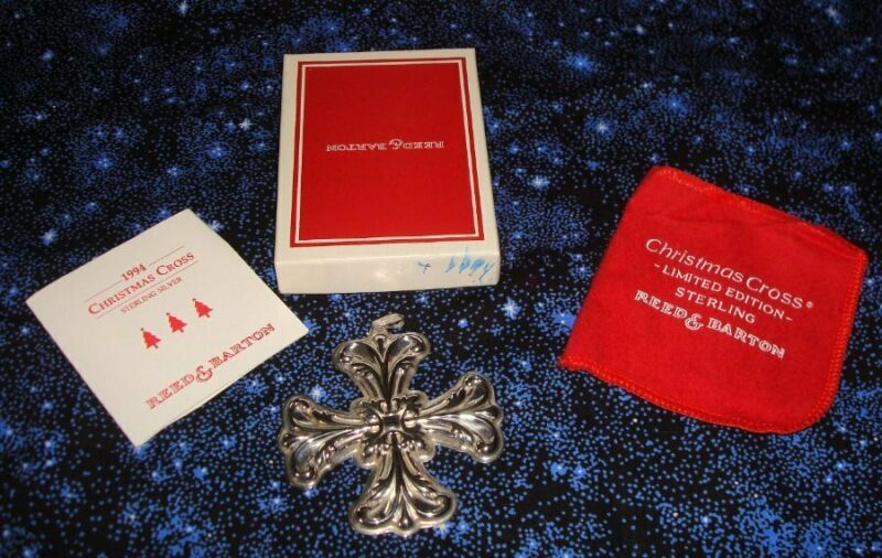 Reed & Barton 1994 Sterling Silver Christmas Cross Mint w Box  Pouch
