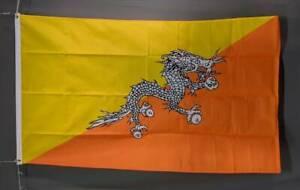 Bhutan flag: printed polyester. 150 x 90 cm/ 5x3'. Brand new Marrickville Marrickville Area Preview
