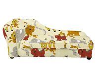 Children's bedroom jungle animal chaise longue