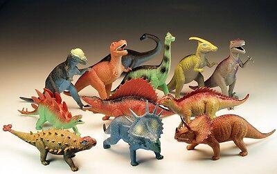 Dinosaurier sortiert ca . 35 - 40 cm groß Kunststoff Plastik Figur
