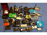 Cameras retro job lot