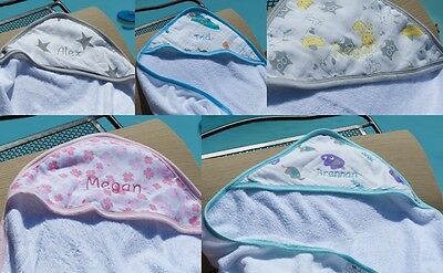 NEW! SOFT WHISPER™ Bamboo Baby Hooded Towel ~ PERSONALIZED!